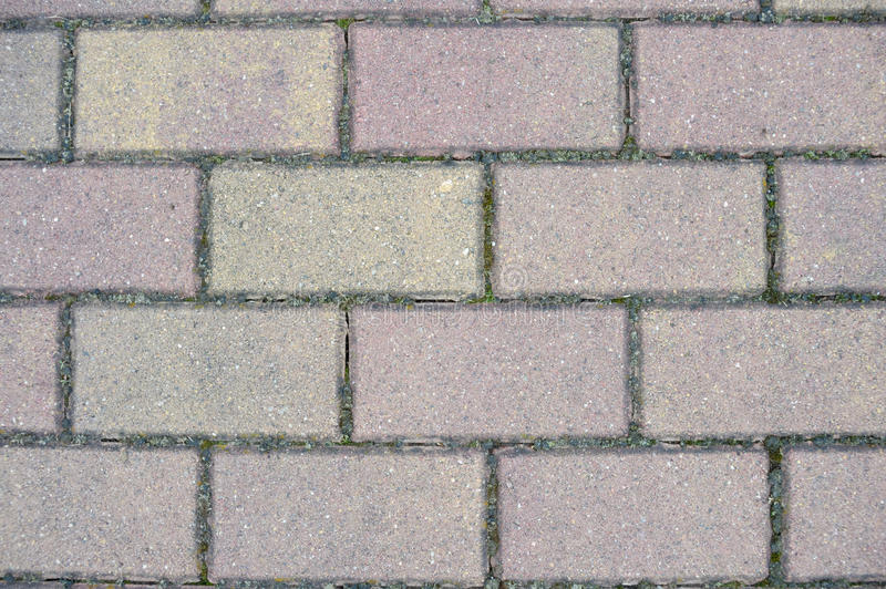 Gray Paving Slabs Stock Photo