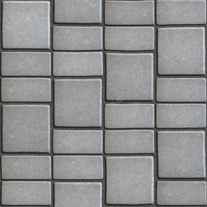 Gray Paving Slabs som efterapar den naturliga stenen royaltyfria bilder