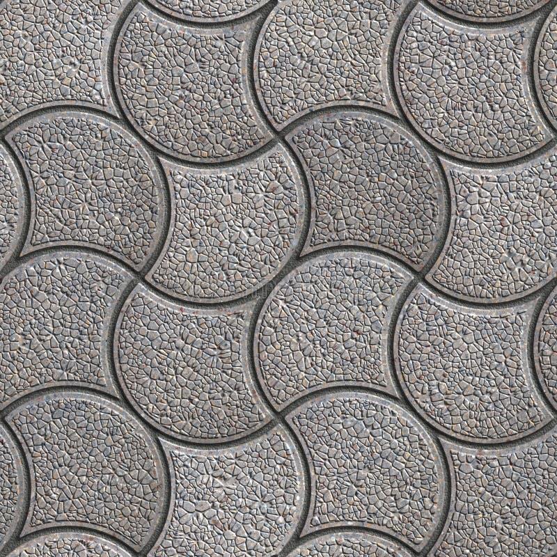 Gray Paving Stone in Golvende Vorm royalty-vrije stock fotografie