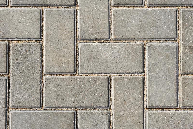 Gray paving tile for background or texture stock photo