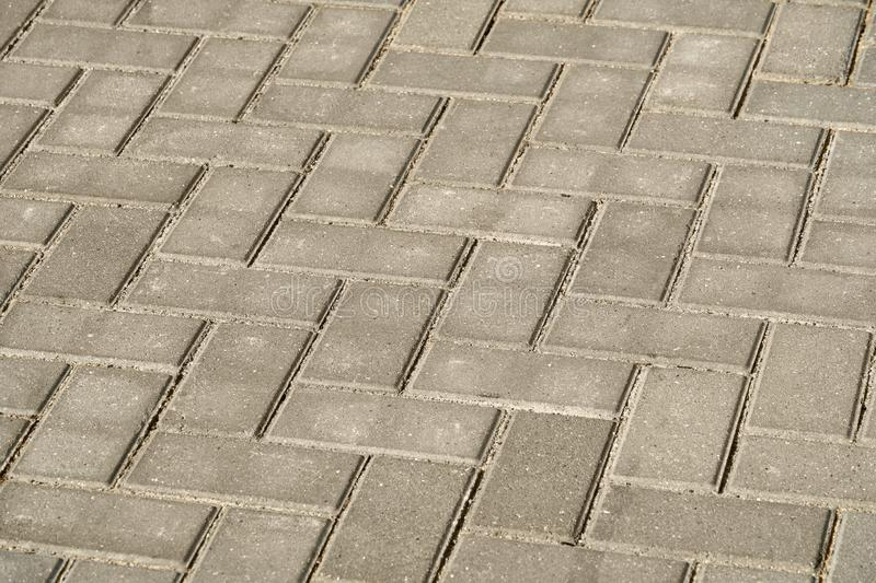 Gray paving tile for background or texture royalty free stock photo