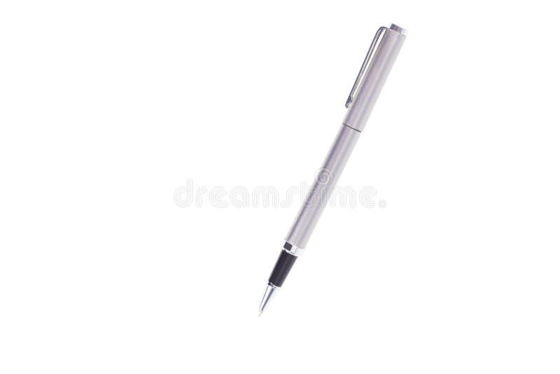 Gray Pen isolou-se no fundo branco foto de stock