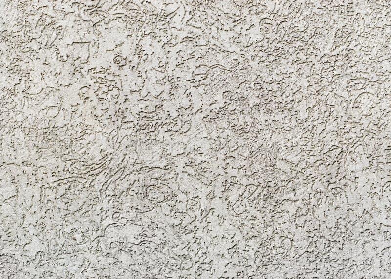 Gray plastered wall royalty free stock photo
