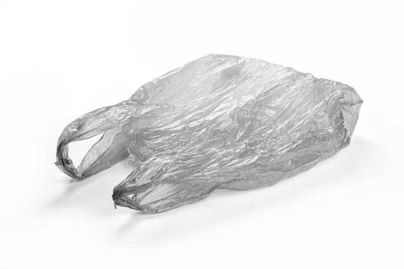 Gray Plastic Bag stock photo