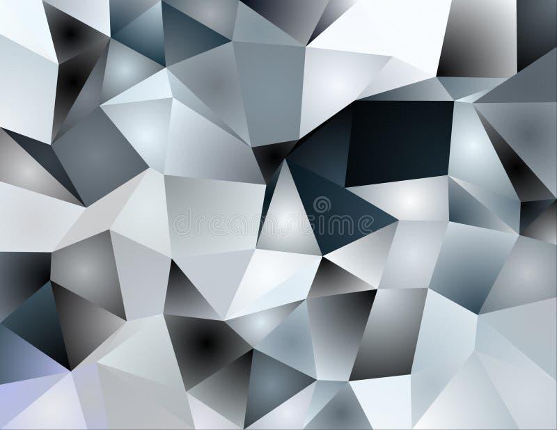 Gray poligons vector illustration