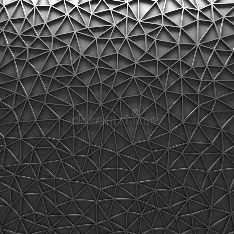 Gray Polygonal Mosaic Geometric Background imagens de stock