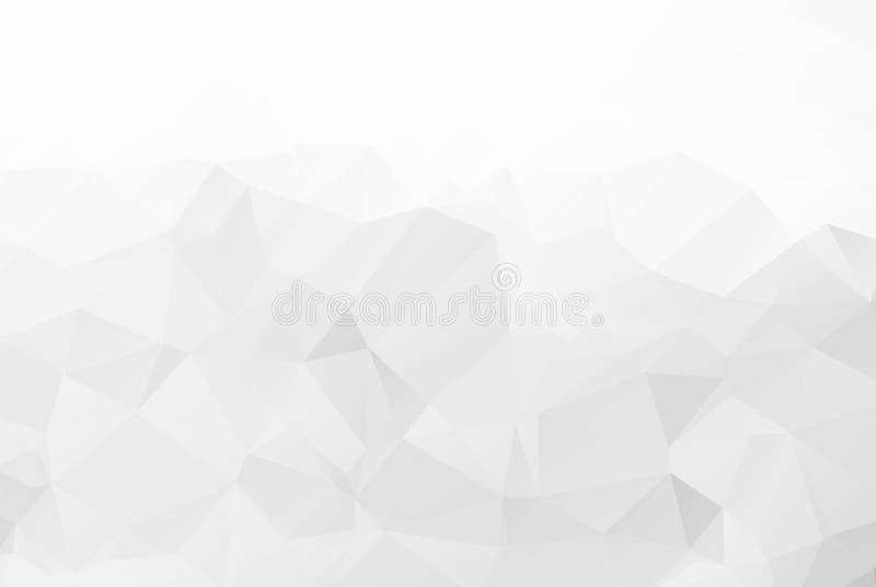 Gray Polygonal Mosaic Paper Background abstrait, illustration de vecteur Fond polygonal de papier de mosaïque illustration stock