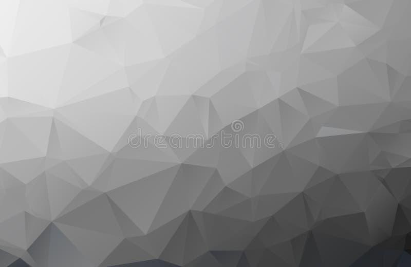 Gray Polygonal Mosaic Paper Background, illustration de vecteur illustration libre de droits