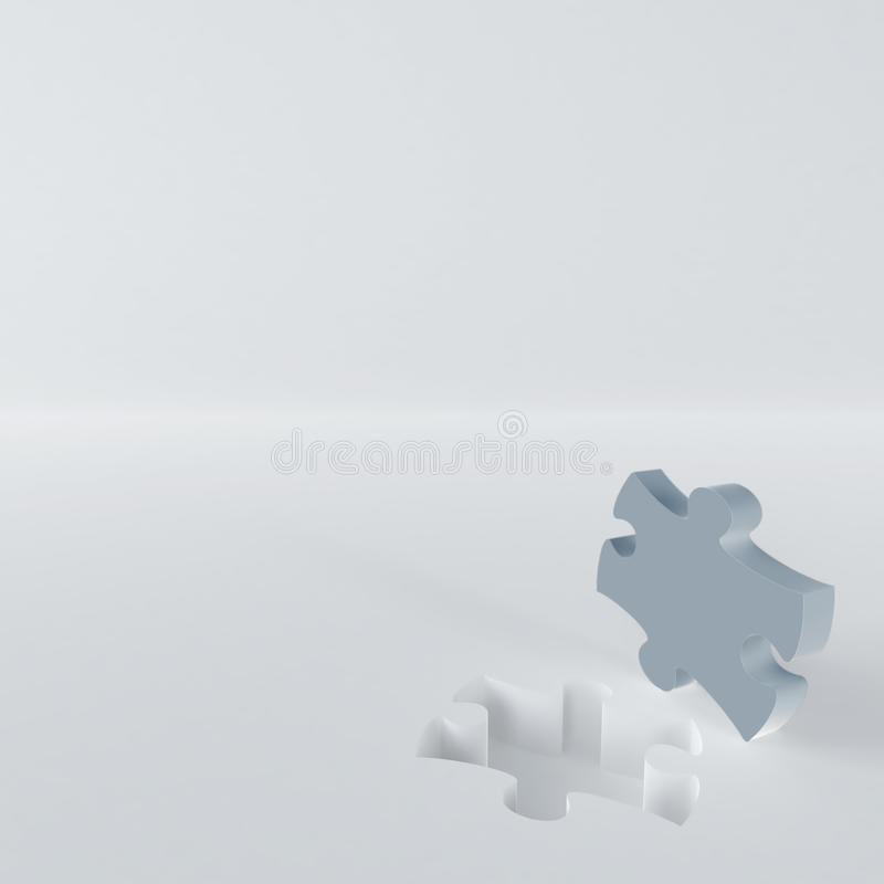 Gray puzzle royalty free stock image