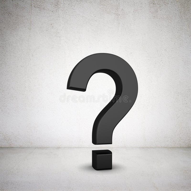 Gray question mark stock photos