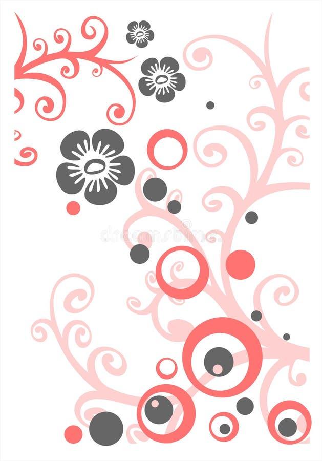 gray różowy kwiat ilustracja wektor
