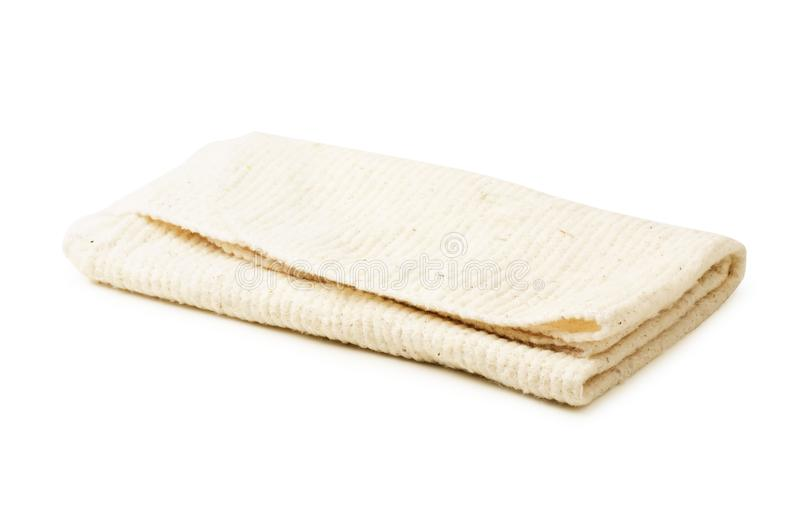 Gray rag isolated. On a white background stock image