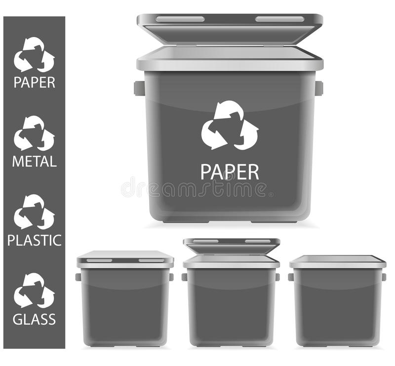 Download Gray recycle garbage stock vector. Image of pollution - 20749026