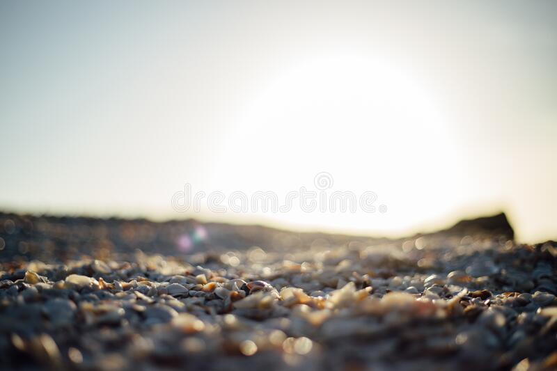 Gray Rocky Field Under Clear Sky during Daytime stock photos