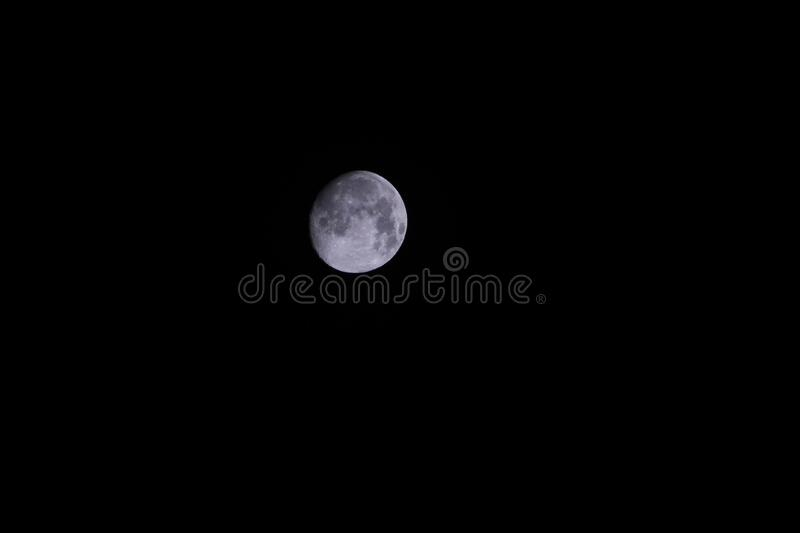 Gray Round Moon During Night Free Public Domain Cc0 Image