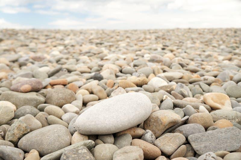 Gray round stones stock images