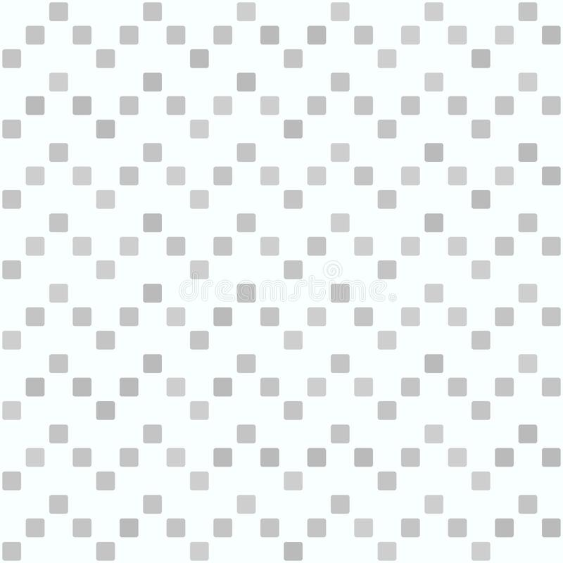 Gray rounded square zigzag pattern. Seamless vector stock illustration