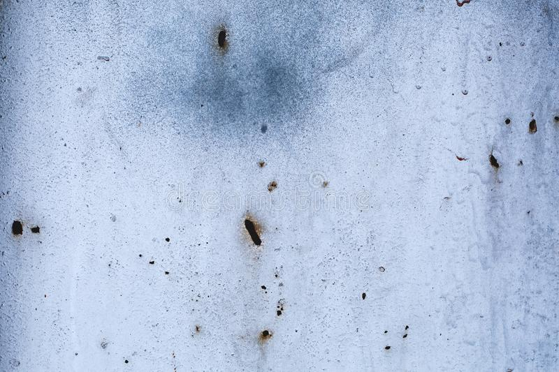 Light white worn rusty metal texture background. Old grunge gray steel surface. Vintage effect royalty free stock image