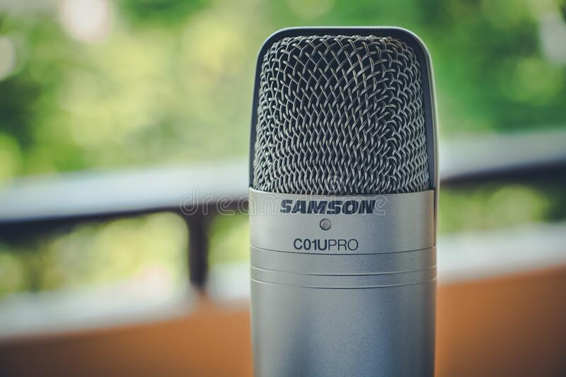 Gray Samson C01upro Microphone in Close View Image stock image