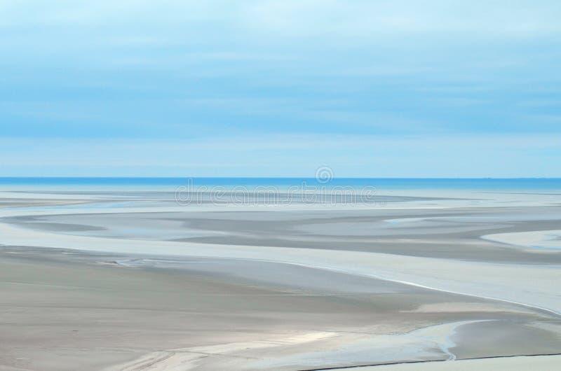 Gray Sand Dunes under Blue Sky royaltyfria bilder