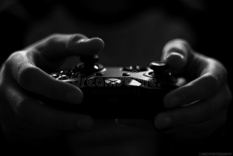 Gray Scale Image de contrôleur de jeu de Xbox photo libre de droits