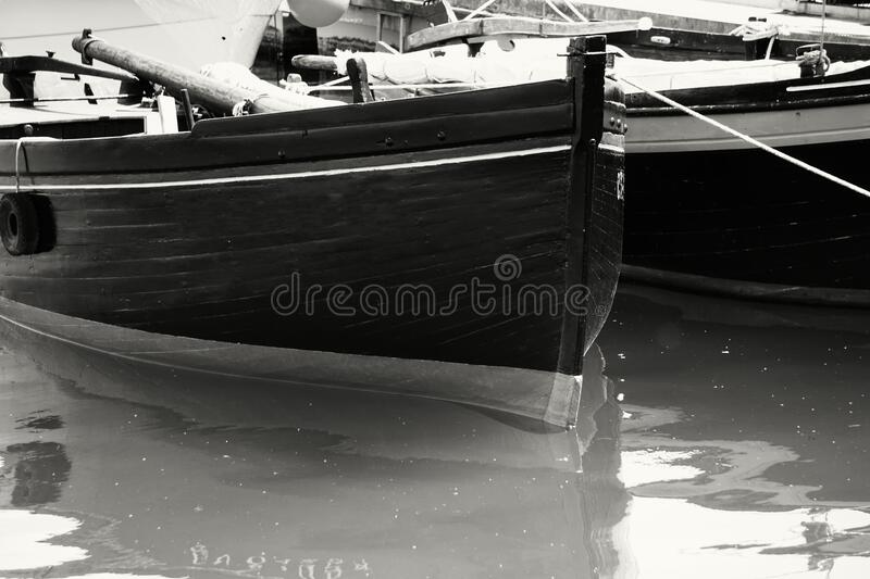 Gray Scale Photo Of Boat On Body Of Water Free Public Domain Cc0 Image