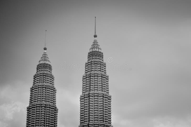 Gray Scale Photo di grattacielo 2 immagine stock libera da diritti