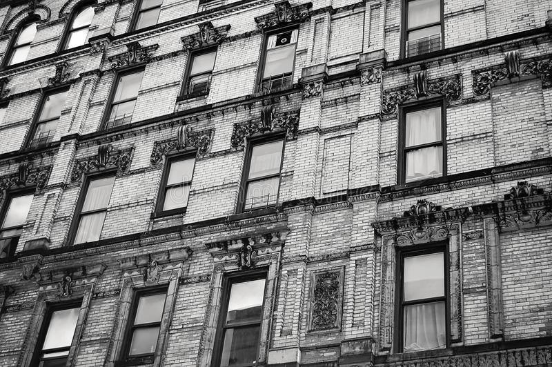 Gray Scale Photo of Multi-storey Building royalty free stock photography