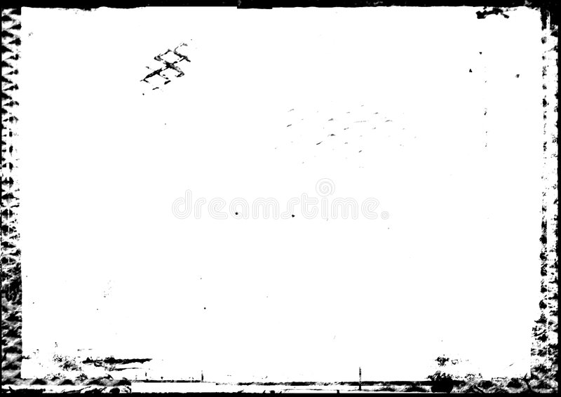 Gray-scale photographic border with metal feel stock image