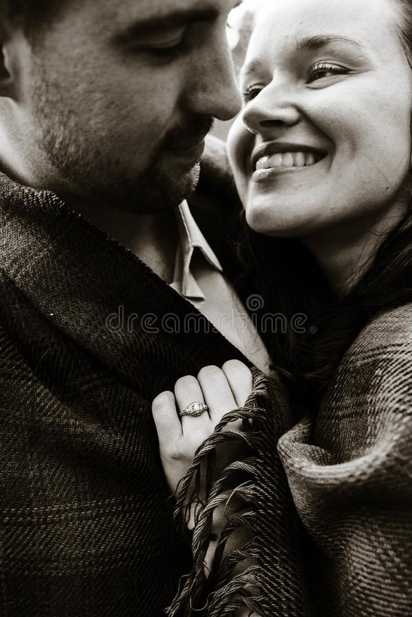 Gray Scale Photography of Couple stock image