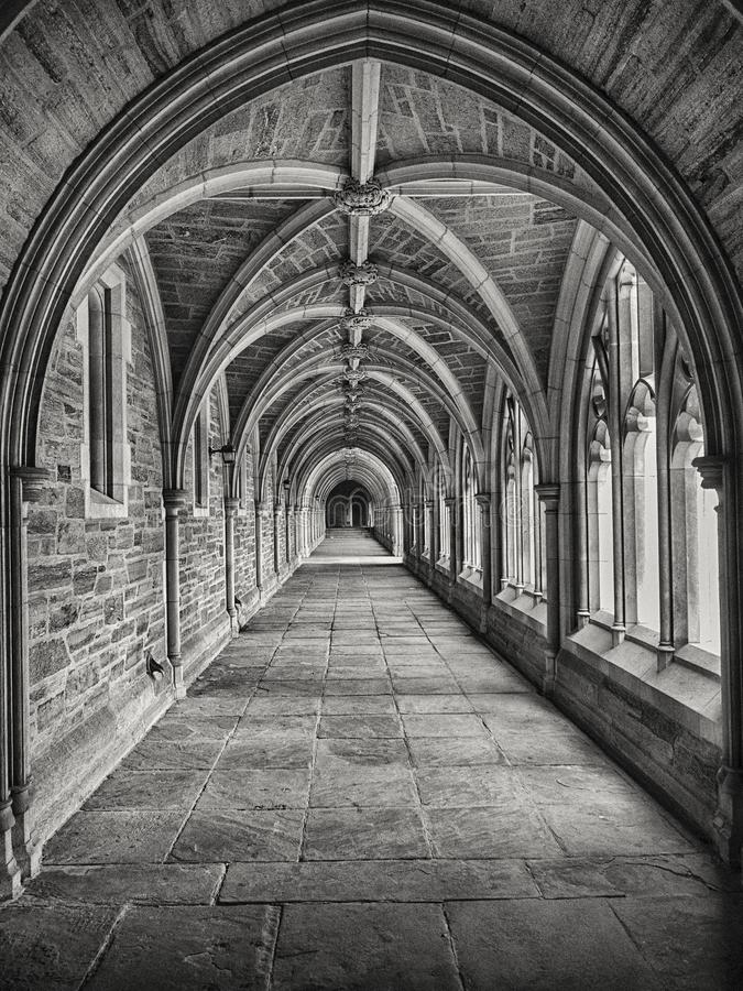 Gray Scale Photography Of Hallway Free Public Domain Cc0 Image