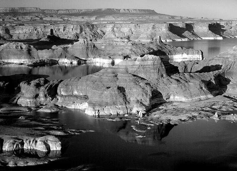 Gray Scale of Rock Formation stock photography