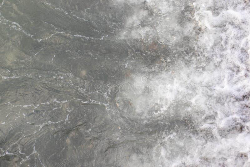 Gray sea surface, top view.  royalty free stock photos
