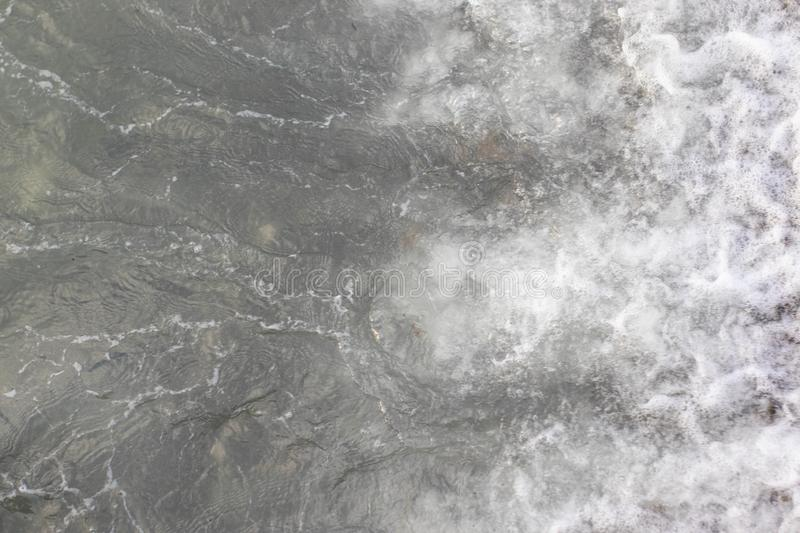 Gray sea surface, top view. Nature background stock photo