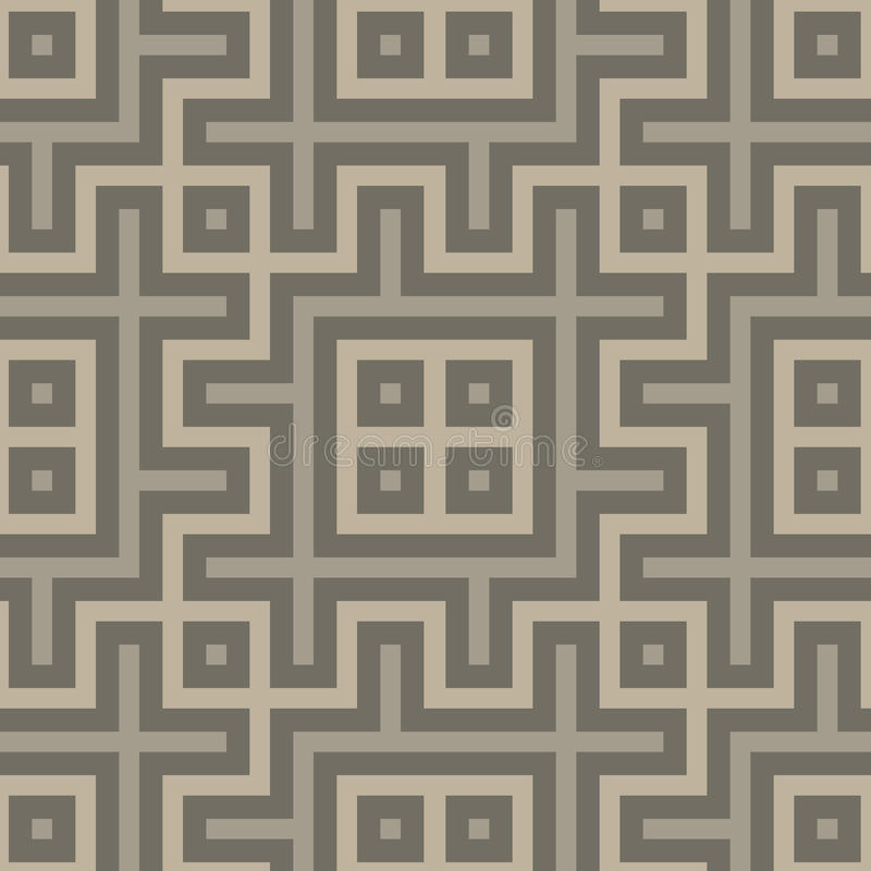 Gray seamless geometric pattern in folk style vector illustration