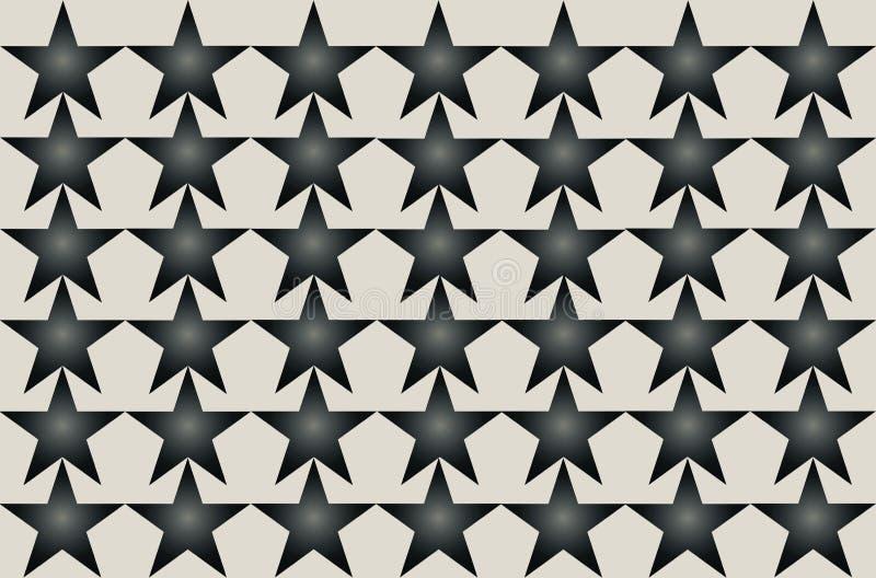 Gray Shaded Blurred Star Pattern preto na ilustração sem emenda do fundo branco Projeto moderno Pode ser usado para o negócio, We ilustração do vetor