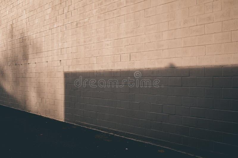 Gray Shadow de prata na textura e no asfalto da parede imagem de stock