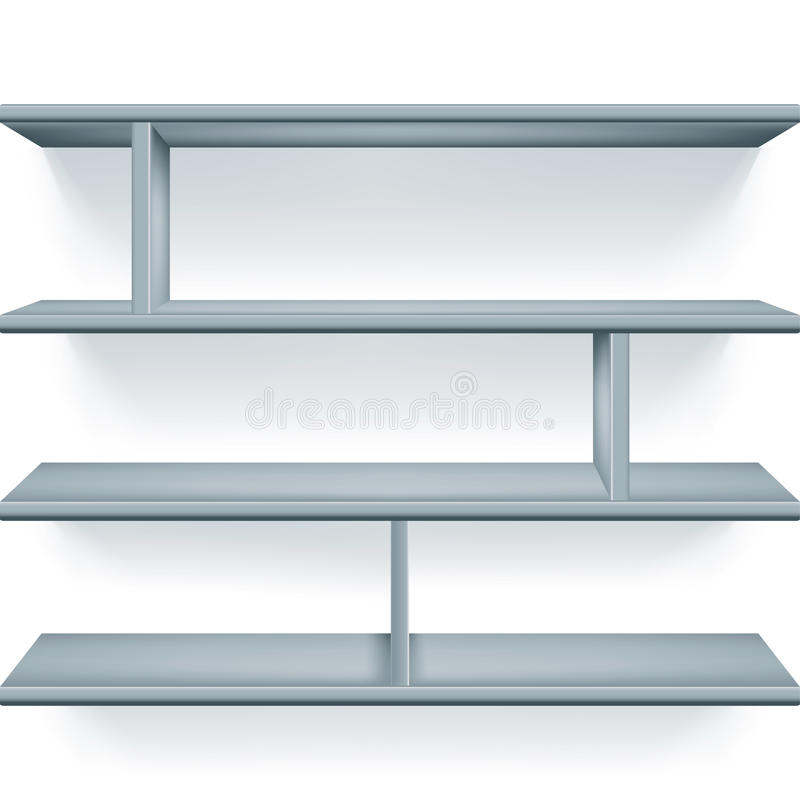 Download Gray shelves stock vector. Illustration of empty, store - 27731774