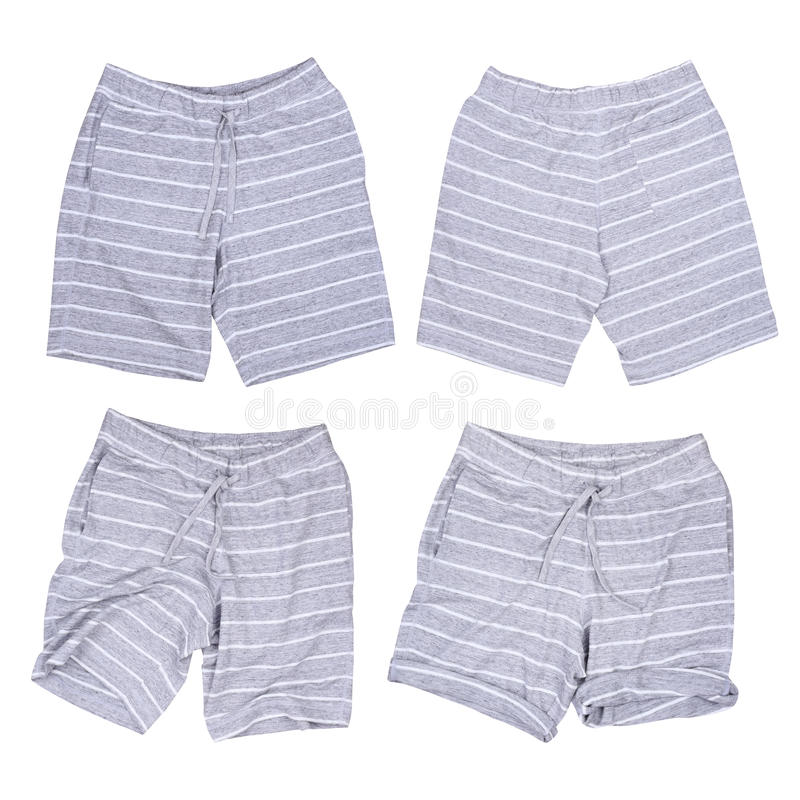 Gray short casual pants isolated collections stock photo