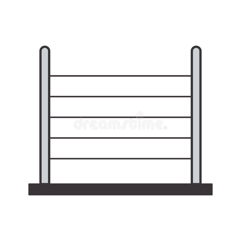 Gray silhouette abacus with base. Vector illustration vector illustration