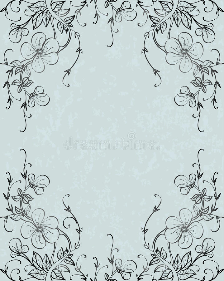 Download Gray Silhouette Flowers Stock Photography - Image: 11592582