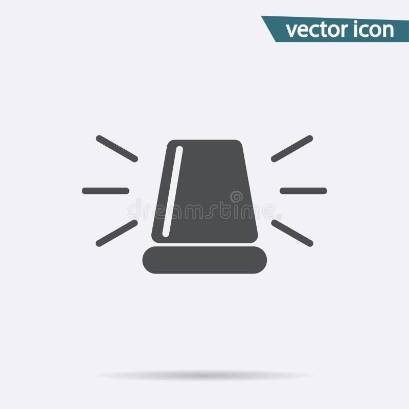 Gray Siren-pictogram op achtergrond wordt geïsoleerd die Modern vlak pictogram, zaken, marketing, Internet-concept royalty-vrije illustratie