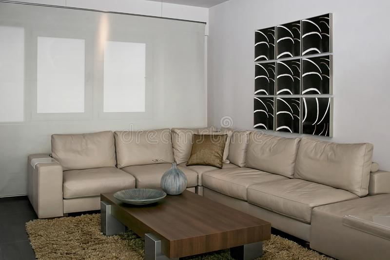 Gray Sitting Area Free Stock Image