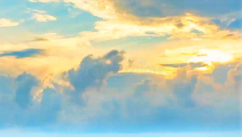 Gray sky with gray clouds golden sunlight. royalty free stock images
