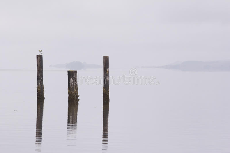 Gray Sky and Water stock images