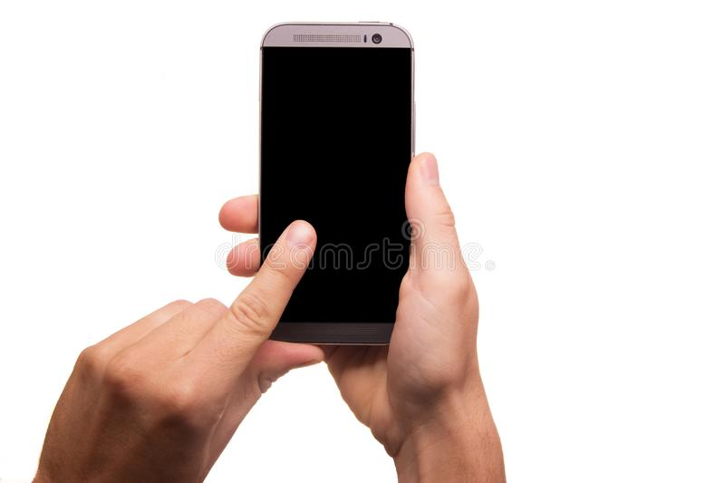 Gray Smartphone stock photos