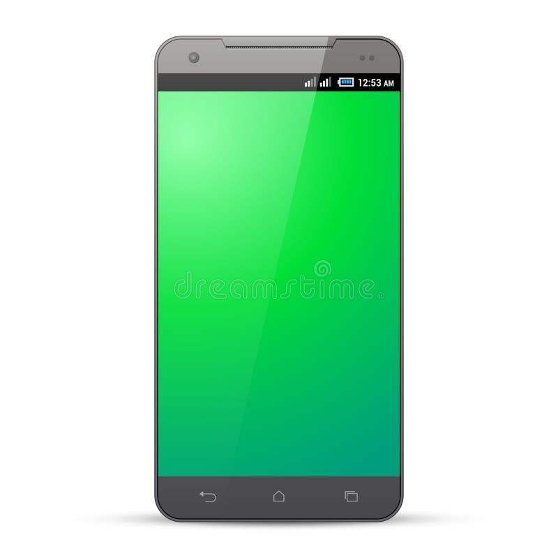 Gray Smartphone Template Mockup Display-het Scherm Geïsoleerdj op witte achtergrond Klaar voor uw ontwerp stock illustratie