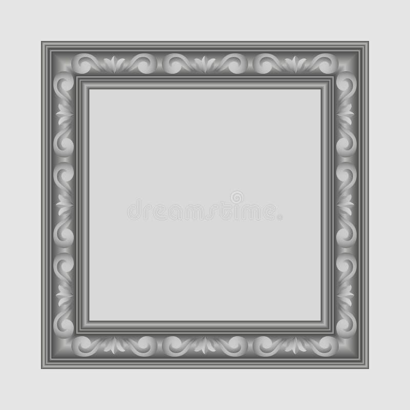 Gray square frame vector illustration