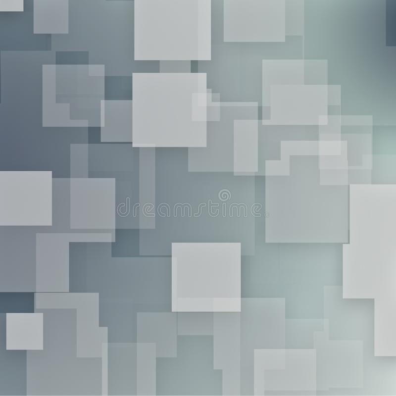 Gray Square Modern Background royaltyfri illustrationer