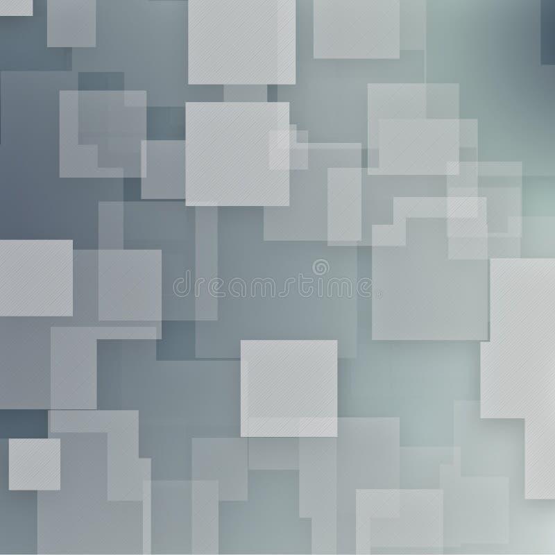 Gray Square Modern Background royalty-vrije illustratie